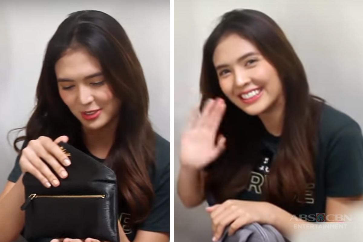 Ano ang mga laman ng mini bag ni Sofia Andres?